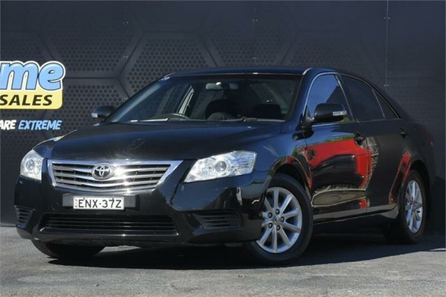 Used Toyota Aurion GSV40R MY10 AT-X Campbelltown, 2011 Toyota Aurion GSV40R MY10 AT-X Black 6 Speed Sports Automatic Sedan