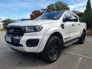 2020 Ford Ranger PX MKIII 2021.2 Wildtrak Alabaster White 6 Speed SMD Double Cab Pick Up.