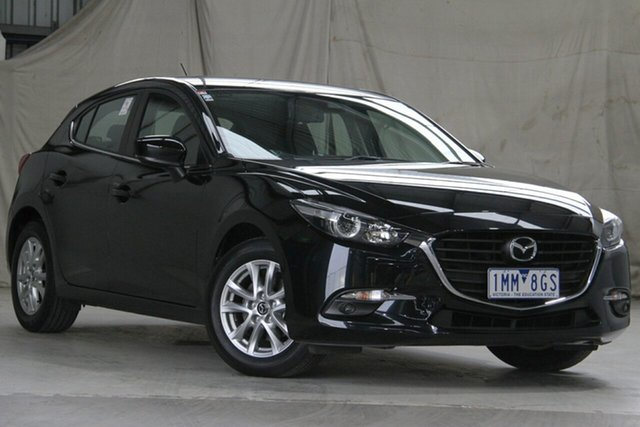 Used Mazda 3 BN MY18 Maxx Sport Altona North, 2018 Mazda 3 BN MY18 Maxx Sport Black 6 Speed Automatic Hatchback