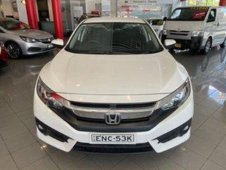2018 Honda Civic 10th Gen MY18 VTi-L White 1 Speed Constant Variable Sedan