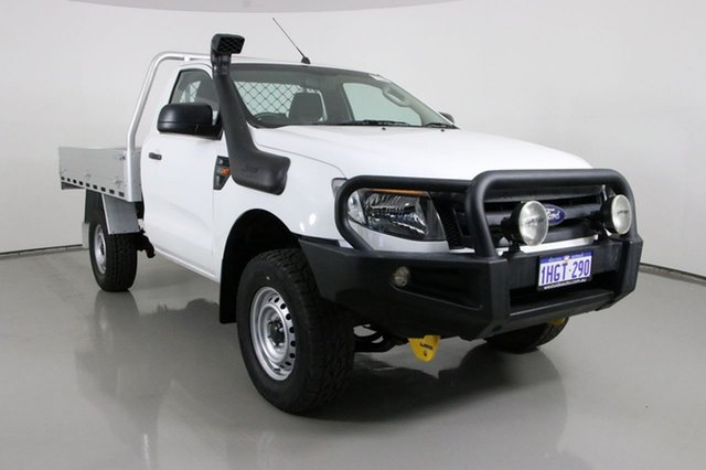 Used Ford Ranger PX XL 3.2 (4x4) Bentley, 2015 Ford Ranger PX XL 3.2 (4x4) White 6 Speed Manual Cab Chassis
