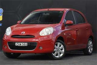2010 Nissan Micra K13 TI Red 5 Speed Manual Hatchback.