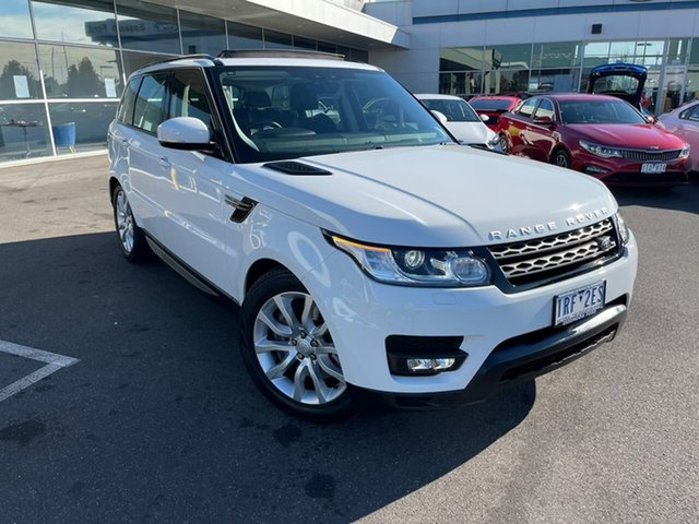 Used Land Rover Range Rover Sport L494 17MY SE Essendon Fields, 2017 Land Rover Range Rover Sport L494 17MY SE White 8 Speed Sports Automatic Wagon