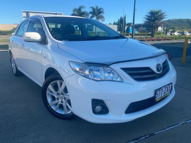 Used Toyota Corolla ZRE152R MY11 Ascent Sport Townsville, 2012 Toyota Corolla ZRE152R MY11 Ascent Sport White/290212 4 Speed Automatic Sedan