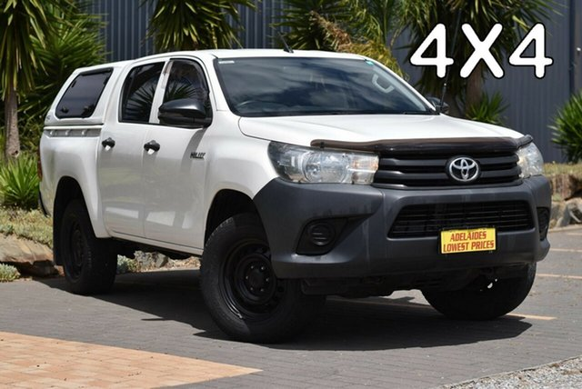 Used Toyota Hilux GUN125R Workmate Double Cab Enfield, 2017 Toyota Hilux GUN125R Workmate Double Cab White 6 Speed Sports Automatic Utility