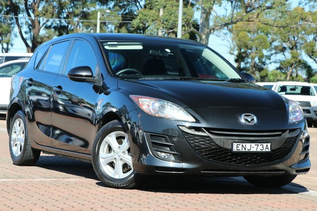 Pre-Owned Mazda 3 BL10F1 Maxx Activematic Warwick Farm, 2010 Mazda 3 BL10F1 Maxx Activematic Black 5 Speed Sports Automatic Hatchback