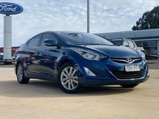 2014 Hyundai Elantra SE Blue Sports Automatic Sedan.