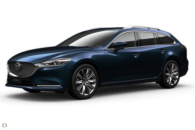 New Mazda 6 GL1033 Atenza SKYACTIV-Drive Waitara, 2021 Mazda 6 GL1033 Atenza SKYACTIV-Drive Blue 6 Speed Sports Automatic Wagon