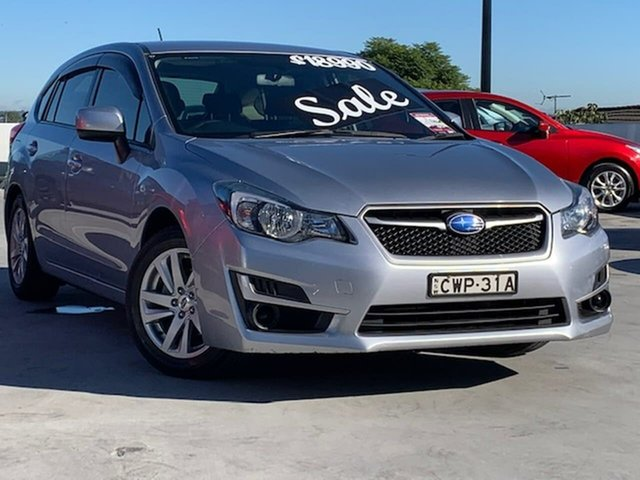 Used Subaru Impreza G4 MY15 2.0i Lineartronic AWD Liverpool, 2015 Subaru Impreza G4 MY15 2.0i Lineartronic AWD Silver 6 Speed Constant Variable Hatchback