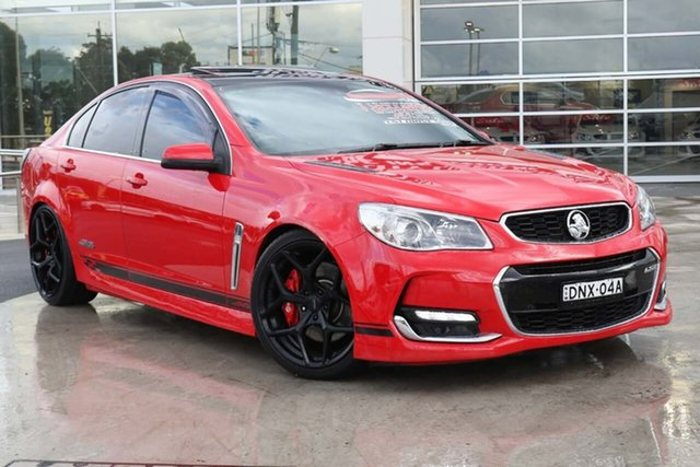 Used Holden Commodore VF II MY16 SS V Redline Liverpool, 2015 Holden Commodore VF II MY16 SS V Redline Red Hot 6 Speed Sports Automatic Sedan
