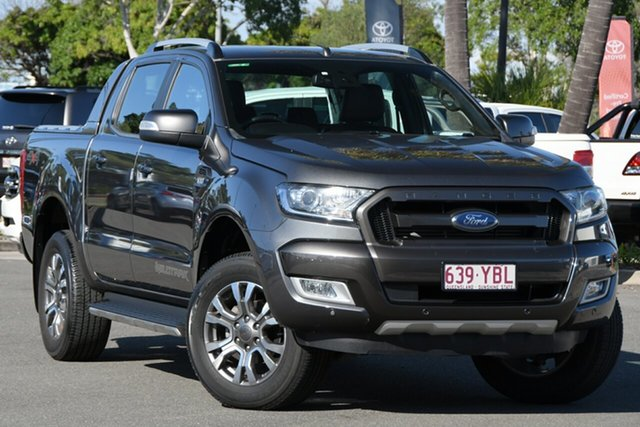 Used Ford Ranger PX MkII 2018.00MY Wildtrak Double Cab North Lakes, 2018 Ford Ranger PX MkII 2018.00MY Wildtrak Double Cab Grey 6 Speed Manual Utility