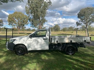 2017 Toyota Hilux TGN121R Workmate 4x2 Glacier White 6 Speed Sports Automatic Cab Chassis