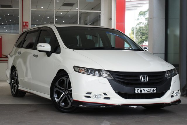 Used Honda Odyssey 4th Gen MY11 Luxury Parramatta, 2011 Honda Odyssey 4th Gen MY11 Luxury White 5 Speed Sports Automatic Wagon