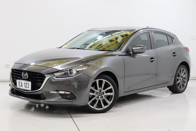 Used Mazda 3 BN5438 SP25 SKYACTIV-Drive Brooklyn, 2018 Mazda 3 BN5438 SP25 SKYACTIV-Drive Grey 6 Speed Sports Automatic Hatchback