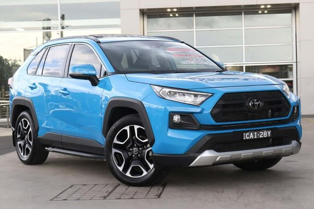 Used Toyota RAV4 Axaa54R Edge AWD Liverpool, 2019 Toyota RAV4 Axaa54R Edge AWD Electric Blue 8 Speed Sports Automatic Wagon