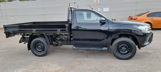 2017 Toyota Hilux GUN126R SR Black 6 Speed Sports Automatic Cab Chassis.