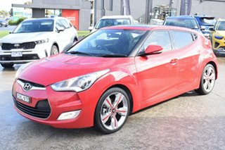 2012 Hyundai Veloster FS2 Coupe D-CT Veloster Red 6 Speed Sports Automatic Dual Clutch Hatchback.