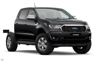 2021 Ford Ranger PX MkIII 2021.25MY XLT Double Cab Black 6 Speed Sports Automatic Double Cab Chassis.