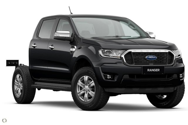 New Ford Ranger PX MkIII 2021.25MY XLT Double Cab Oakleigh, 2021 Ford Ranger PX MkIII 2021.25MY XLT Double Cab Black 6 Speed Sports Automatic Double Cab Chassis