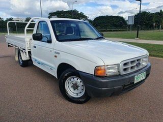 2001 Ford Courier PE GL 4x2 Cool White 5 Speed Manual Cab Chassis.