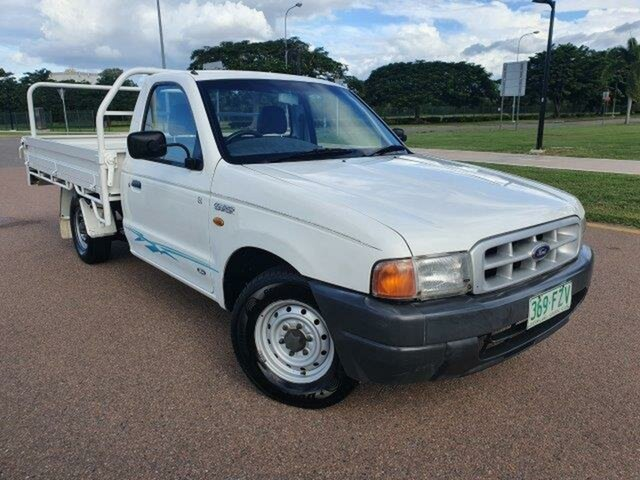 Used Ford Courier PE GL 4x2 Townsville, 2001 Ford Courier PE GL 4x2 Cool White 5 Speed Manual Cab Chassis