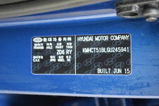 2015 Hyundai Accent RB2 MY15 Active Dazzling Blue 6 Speed Manual Hatchback