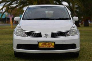2007 Nissan Tiida C11 MY07 ST White 4 Speed Automatic Hatchback.