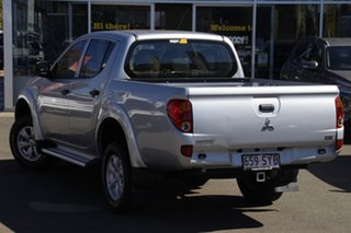 2012 Mitsubishi Triton MN MY13 GLX Double Cab Silver 5 Speed Manual Utility