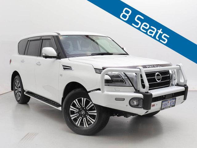 Used Nissan Patrol Y62 Series 5 MY20 TI (4x4), 2020 Nissan Patrol Y62 Series 5 MY20 TI (4x4) White 7 Speed Automatic Wagon