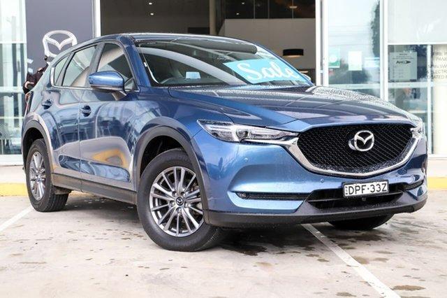Used Mazda CX-5 KF4WLA Touring SKYACTIV-Drive i-ACTIV AWD Kirrawee, 2017 Mazda CX-5 KF4WLA Touring SKYACTIV-Drive i-ACTIV AWD Blue 6 Speed Sports Automatic Wagon