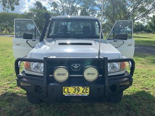 2012 Toyota Landcruiser VDJ79R MY10 GX French Vanilla 5 Speed Manual Cab Chassis