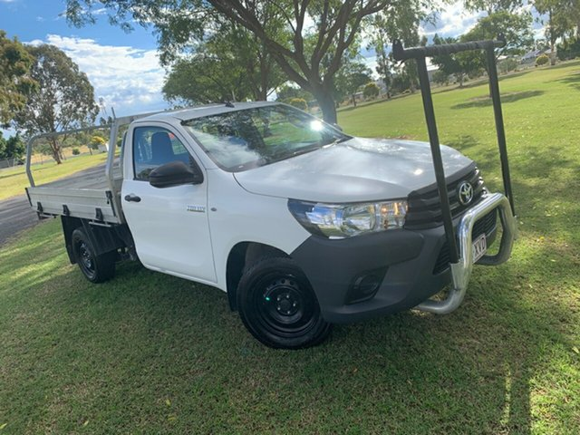 Pre-Owned Toyota Hilux TGN121R Workmate 4x2 Moree, 2017 Toyota Hilux TGN121R Workmate 4x2 Glacier White 6 Speed Sports Automatic Cab Chassis