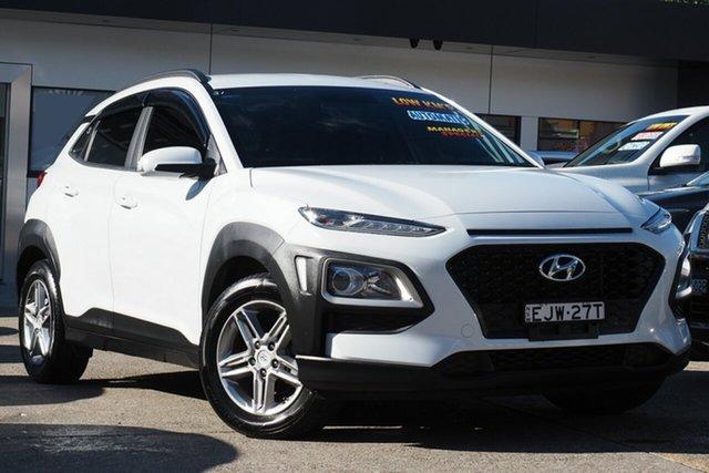 Used Hyundai Kona OS.2 MY19 Elite 2WD Homebush, 2018 Hyundai Kona OS.2 MY19 Elite 2WD White 6 Speed Sports Automatic Wagon