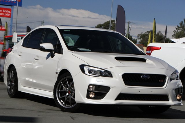 Used Subaru WRX V1 MY17 STI AWD Premium Aspley, 2016 Subaru WRX V1 MY17 STI AWD Premium White 6 Speed Manual Sedan
