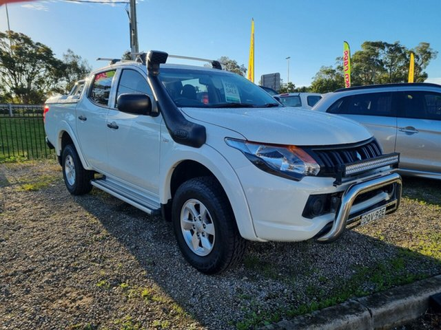Used Mitsubishi Triton MQ MY17 GLX+ Double Cab Glendale, 2017 Mitsubishi Triton MQ MY17 GLX+ Double Cab White 6 Speed Manual Utility