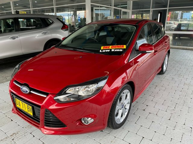 Used Ford Focus Sport Taree, 2012 Ford Focus Sport Red Sports Automatic Dual Clutch Hatchback
