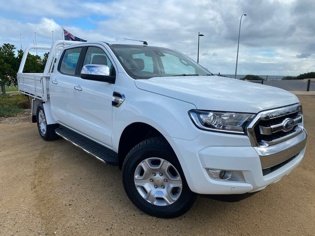 Used Ford Ranger PX MkII 2018.00MY XLT Double Cab Christies Beach, 2018 Ford Ranger PX MkII 2018.00MY XLT Double Cab White 6 Speed Sports Automatic Utility