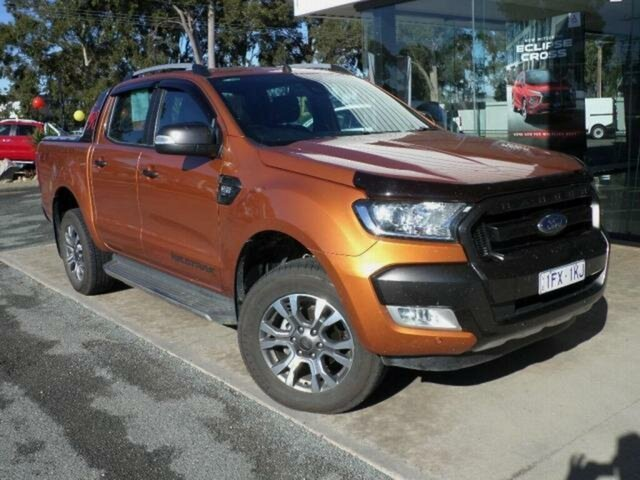 Used Ford Ranger PX MkII Wildtrak 3.2 (4x4) Wangaratta, 2016 Ford Ranger PX MkII Wildtrak 3.2 (4x4) Orange 6 Speed Automatic Dual Cab Pick-up