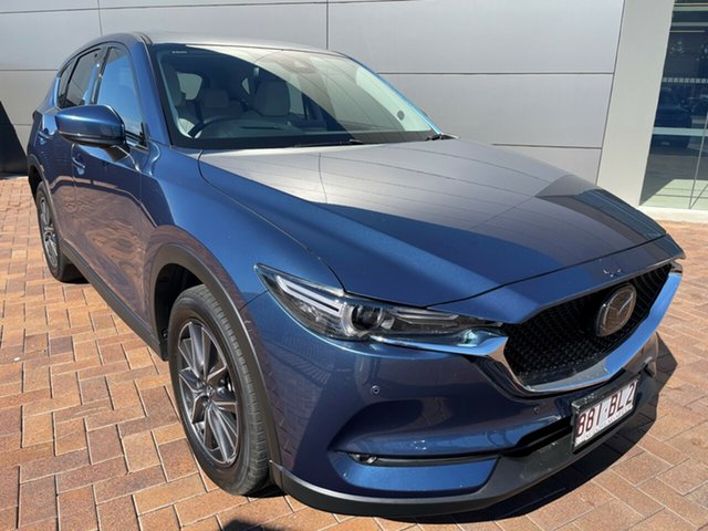Used Mazda CX-5 KF4WLA Akera SKYACTIV-Drive i-ACTIV AWD Toowoomba, 2018 Mazda CX-5 KF4WLA Akera SKYACTIV-Drive i-ACTIV AWD Blue 6 Speed Sports Automatic Wagon