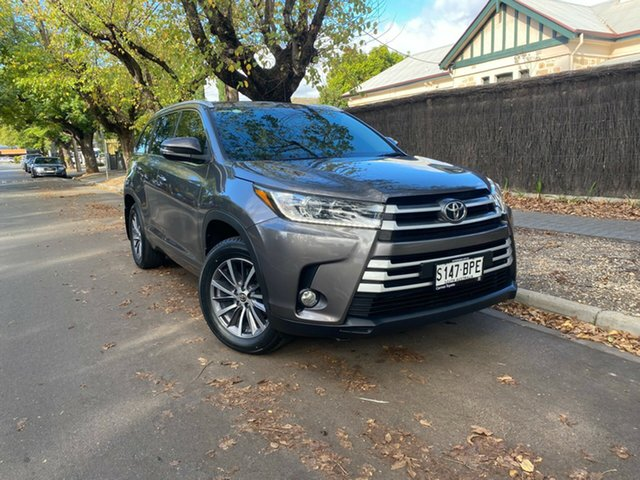 Pre-Owned Toyota Kluger GSU55R GXL AWD Hawthorn, 2017 Toyota Kluger GSU55R GXL AWD Grey 8 Speed Sports Automatic Wagon