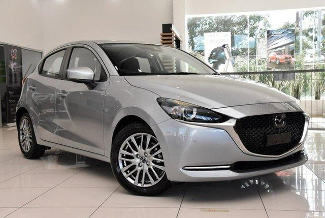 New Mazda 2 DJ2HAA G15 SKYACTIV-Drive GT Waitara, 2021 Mazda 2 DJ2HAA G15 SKYACTIV-Drive GT Silver 6 Speed Sports Automatic Hatchback
