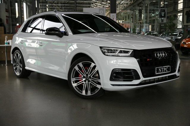 Used Audi SQ5 FY MY19 Black Edition Tiptronic Quattro North Melbourne, 2019 Audi SQ5 FY MY19 Black Edition Tiptronic Quattro White 8 Speed Sports Automatic Wagon