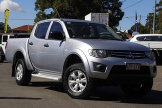 2012 Mitsubishi Triton MN MY13 GLX Double Cab Silver 5 Speed Manual Utility.