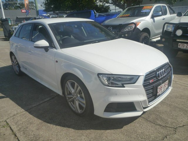 Used Audi A3 8V MY19 35 TFSI Sportback S Tronic S Line Plus Morayfield, 2019 Audi A3 8V MY19 35 TFSI Sportback S Tronic S Line Plus White 7 Speed