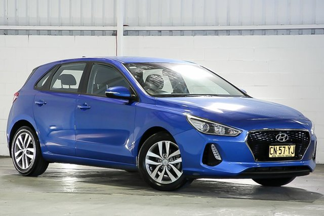 Used Hyundai i30 PD MY18 Active D-CT West Gosford, 2017 Hyundai i30 PD MY18 Active D-CT Blue 7 Speed Sports Automatic Dual Clutch Hatchback
