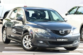 2007 Mazda 3 BK10F2 Maxx Sport Carbon Grey 5 Speed Manual Hatchback.