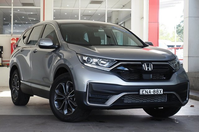 Used Honda CR-V RW MY21 VTi 4WD LX AWD Parramatta, 2021 Honda CR-V RW MY21 VTi 4WD LX AWD Silver 1 Speed Constant Variable Wagon