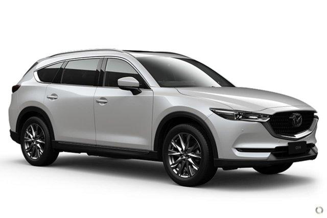 Demo Mazda CX-8 KG4W2A GT SKYACTIV-Drive i-ACTIV AWD Waitara, 2021 Mazda CX-8 KG4W2A GT SKYACTIV-Drive i-ACTIV AWD White 6 Speed Sports Automatic Wagon