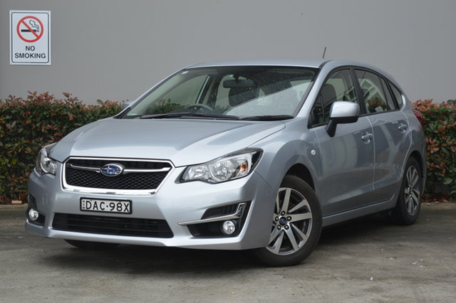 Used Subaru Impreza G4 MY15 2.0i Lineartronic AWD Premium Maitland, 2015 Subaru Impreza G4 MY15 2.0i Lineartronic AWD Premium Silver, Chrome 6 Speed Constant Variable