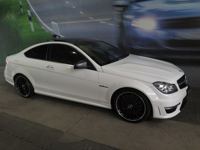 Used Mercedes-Benz C63 W204 MY13 AMG Black Series Osborne Park, 2013 Mercedes-Benz C63 W204 MY13 AMG Black Series White 7 Speed Automatic G-Tronic Coupe